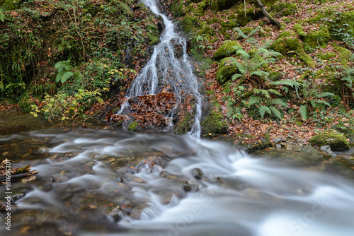 Waterfalls at Hell´s Mill (Infernuko Errota) trail in Baztan valley, Navarra, Spain