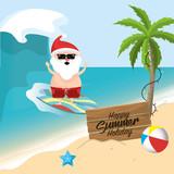 summer holiday vacation with santa claus - 181607534