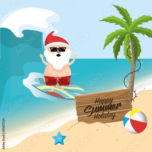 summer holiday vacation with santa claus