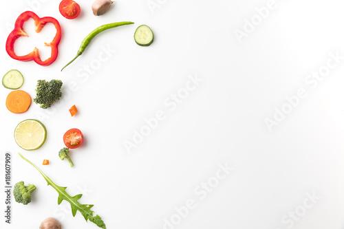 cut vegetables for salad