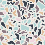 seamless pattern with terrazzo ornament - 181608524