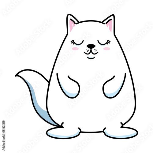cute hamster kawaii character vector illustration design - 181621319