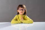 preschooler yoga kid relaxing with mindfulness and calm at school - 181627586