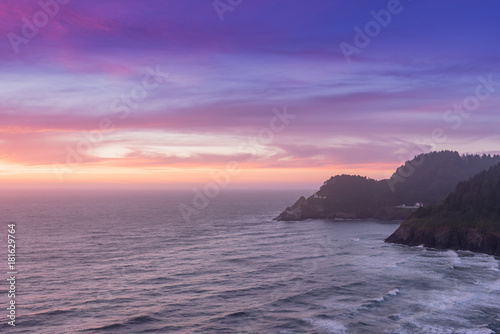 Sunset Colors Over Pacific Coast