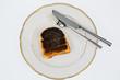 burnt toast slices of bread - 181634580