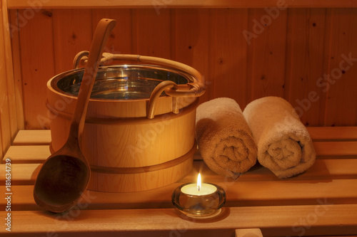 Foto op Aluminium Ontspanning wellness and spa in the sauna