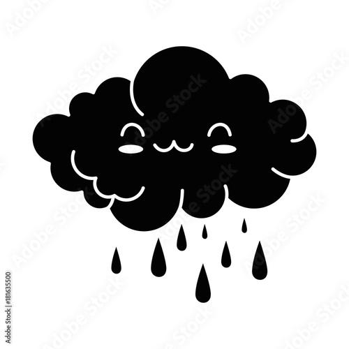 cute cloud rainy kawaii character vector illustration design - 181635500