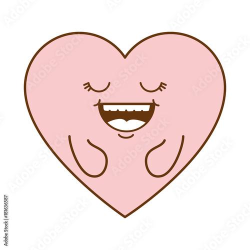cute heart kawaii character vector illustration design - 181636587