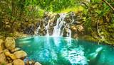 Cascade Vacoas waterfall. Mauritius. Panorama
