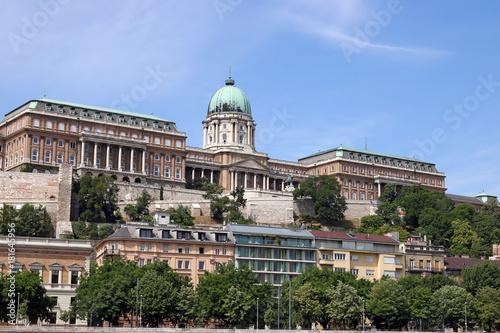 In de dag Boedapest Royal castle Budapest landmark Hungary