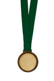 champion, gold sports medal on white background - 181650710