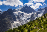 The Meije Glacier, the Glacier du Tabuchet and the Rateau Glacier in Summer. Ecrins National Park, Southern French Alps, France - 181659149