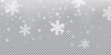 Falling snowflake pa...