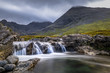 Beautiful waterfalls in Scotland mountains