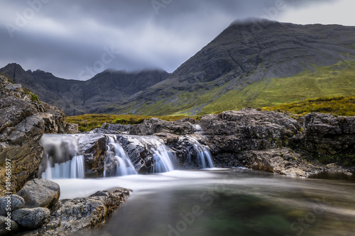 Beautiful waterfalls in Scotland mountains - 181663597