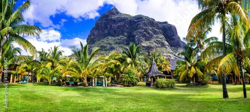 Fotobehang Freesurf Luxury holidays in Mauriius island