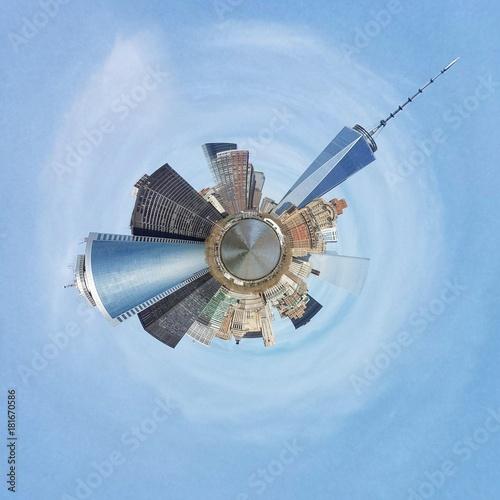 Plexiglas Abstractie NYC. Abstrakcja