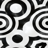 Seamless tileable pattern with circles in black and white . Pop texture use for background . - 181671981