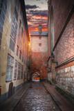 old houses on Riga street. Latvia - 181679147