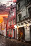 old houses on Riga street. Latvia - 181679148