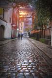 old houses on Riga street. Latvia - 181679169