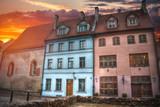 old houses on Riga street. Latvia - 181679179