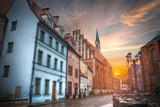 old houses on Riga street. Latvia - 181679187