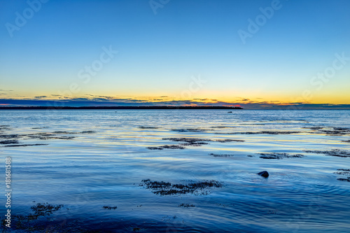 Sunset in Rimouski, Quebec by Saint Lawrence river in Gaspesie region of Canada Poster