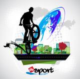 Bicycle jumper, sport vector