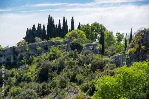 Fotobehang Lente Panoramic view of rural France