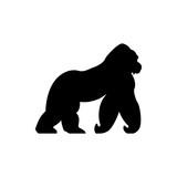 vector gorilla silhouette - 181689310
