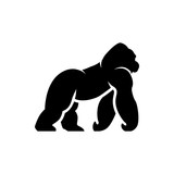 vector gorilla silhouette