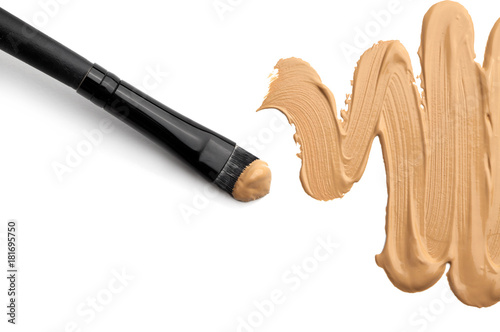 Poster makeup foundation isolated on white background