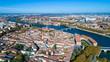 Photographie aérienne du centre-ville de Toulouse