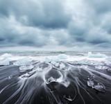 Iceberg pieces on Diamond beach - 181706165