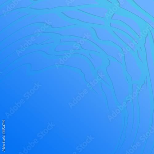 Plexiglas Abstractie абстрактный голубой фон с волнистым украшением в углу, векторная иллюстрация
