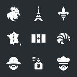 Vector Set of France Icons. - 181728159