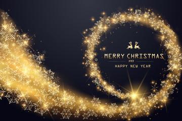 Merry Christmas Lettering Design. Vector illustration. EPS 10