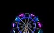 ferris wheel with neon light