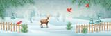 Vector Winter Landscape - 181734572