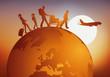 voyage - voyager - globe - famille - tourisme - touriste - voyageur - avion - aéroport - vacances