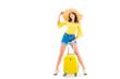 young woman wih luggage