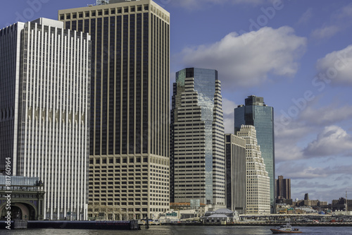 Foto Murales New York waterfront on the East river