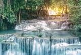 Huay Mae Kamin Waterfall in Kanchanaburi province,Thailand - 181765739
