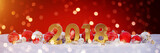 2018 new year eve with christmas baubles and candles 3D rendering - 181767344