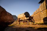 Old Wooden Cart in a Western Camp of the Death Valley - 181784923