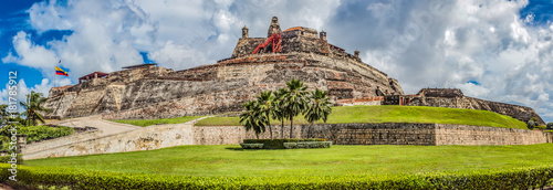 fortified castle of san felipe in the city of cartagena de indias