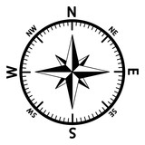 The emblem of the compass rose. - 181786570