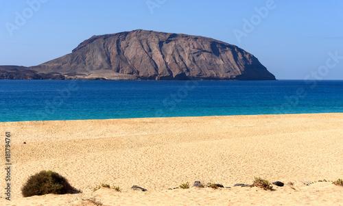 Tuinposter Beige las Conchas beach at la Graciosa island, Canary islands, Spain