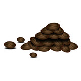 Stack of coffee beans